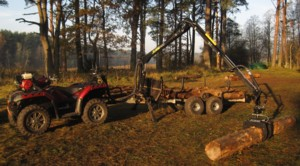 [Logging crane and trailer for ATV Picture # 1]