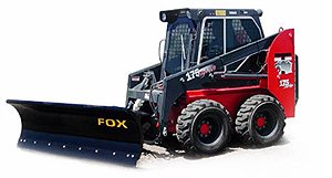 [Fox 8' skid steer mounted snow plow Picture # 1]